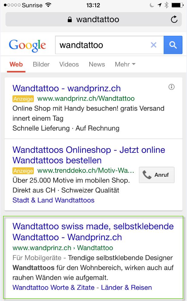 Suchergebnis für Wandtatoo auf dem mobile