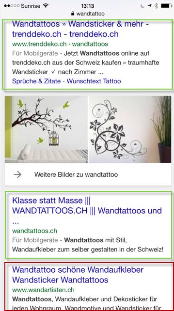 Wandtatoo Suchergebnis auf mobile
