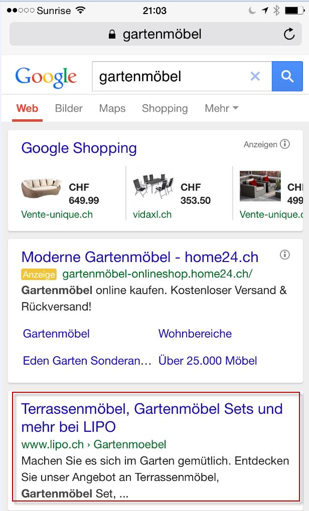 mobiles suchresultat für gartenmöbel