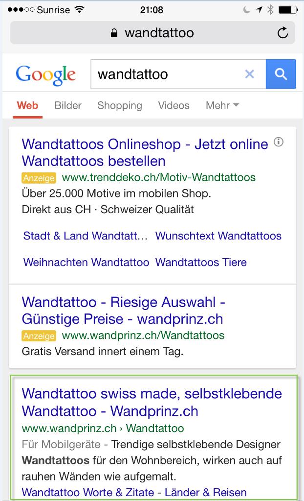 mobile suche wandtatoo