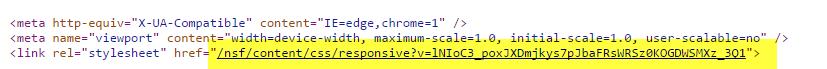 CSS File in relativer URL angegeben
