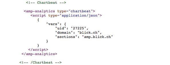 Chartbeat implementation auf amp.blick.ch