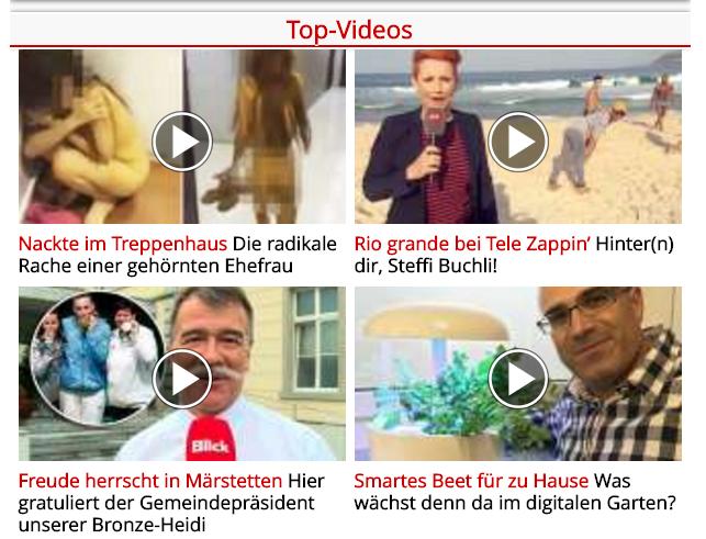 Links zu videos auf der amp seite blick.ch